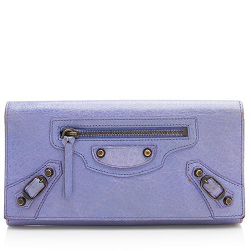 Balenciaga Leather Fold Over Wallet