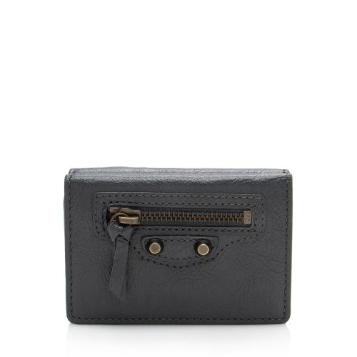 Balenciaga Leather Mini City Wallet