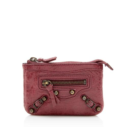Balenciaga Leather Zip Mini Pouch