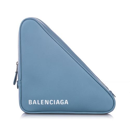 Balenciaga Leather M Triangle Pochette