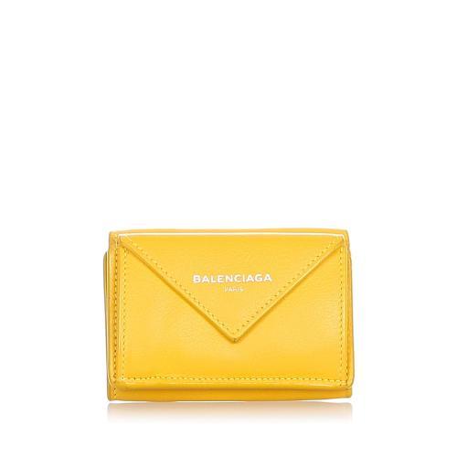 Balenciaga Papier Leather Compact Wallet