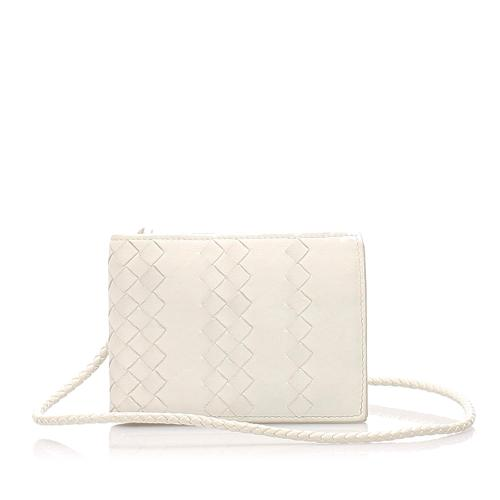 Bottega Veneta Intrecciato Leather Small Wallet On Sttrap