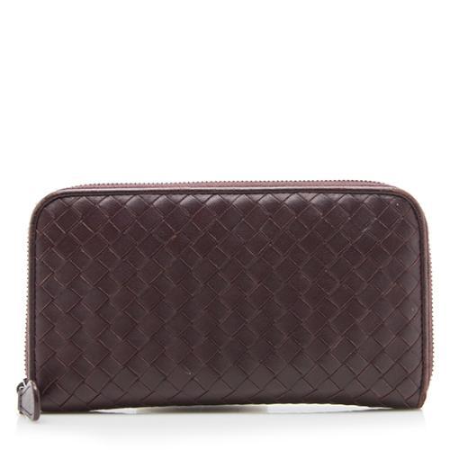 Bottega Veneta Intrecciato Nappa Zip Around Wallet