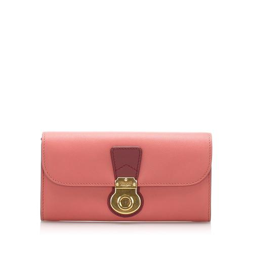 Burberry DK88 Leather Long Wallet