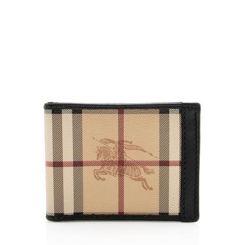 Burberry Haymarket Check Bi-Fold Wallet