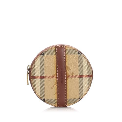 Burberry Haymarket Check Coin Pouch