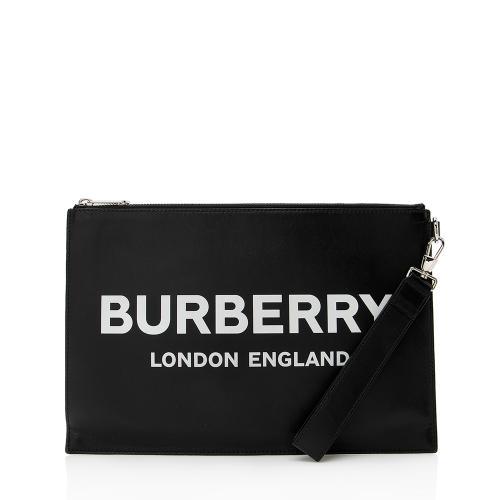 Burberry Leather Logo Wristlet