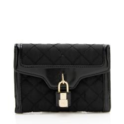 Burberry Quilted Nylon Lock French Wallet