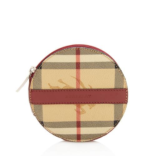 Burberry Vintage Haymarket Check Round Coin Pouch