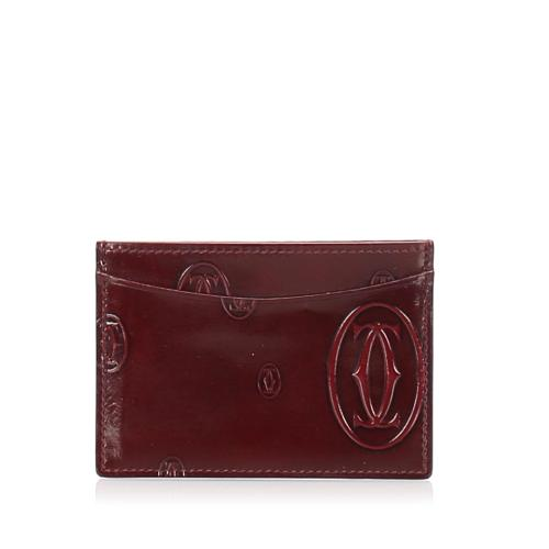 Cartier Happy Birthday Patent Leather Card Holder