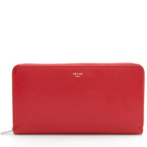 Celine Calfskin Zip Continental Wallet