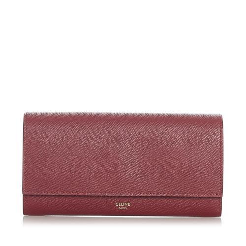 Celine Leather Long Wallet