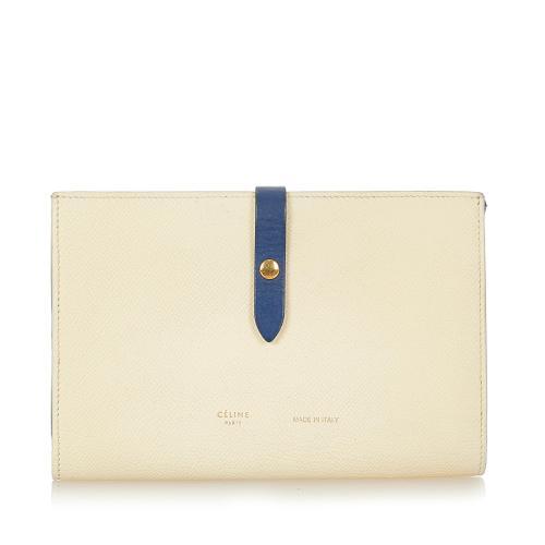 Celine Multifunction Strap Leather Wallet