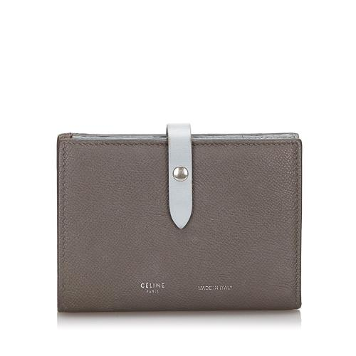 Celine Leather Small Strap Wallet