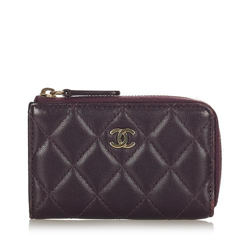 Chanel CC Caviar Leather Coin Pouch