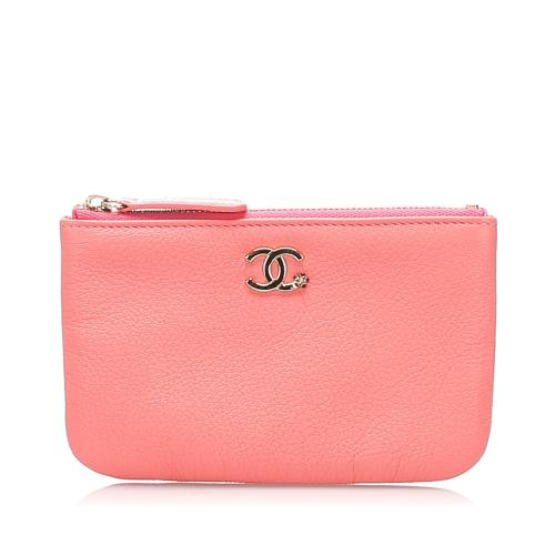 Chanel Caviar Leather CC Pouch