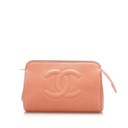 Chanel CC Caviar Leather Pouch