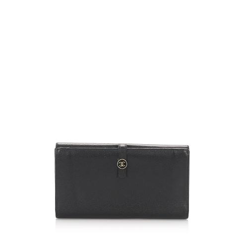 Chanel Leather CC Long Wallet