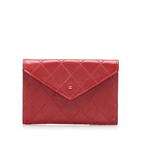 Chanel CC Wild Stitch Leather Card Holder
