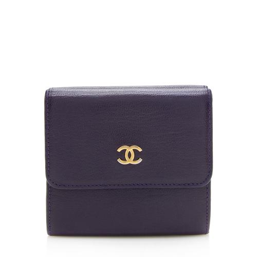 Chanel Calfskin CC Bifold Wallet