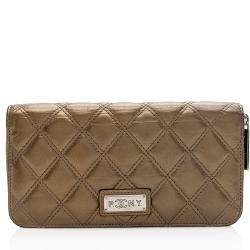 Chanel Calfskin Paris New York Flap Wallet