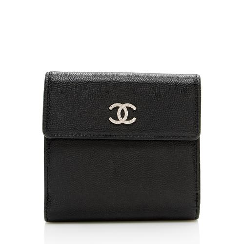 Chanel Caviar Leather CC Bifold Wallet