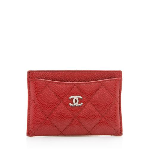 Chanel Caviar Leather CC Card Holder