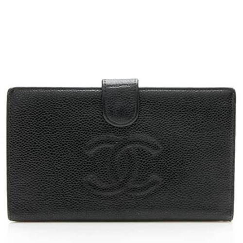 Chanel Caviar Leather CC French Purse Wallet