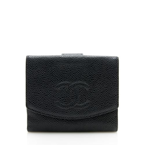 Chanel Caviar Leather CC Wallet