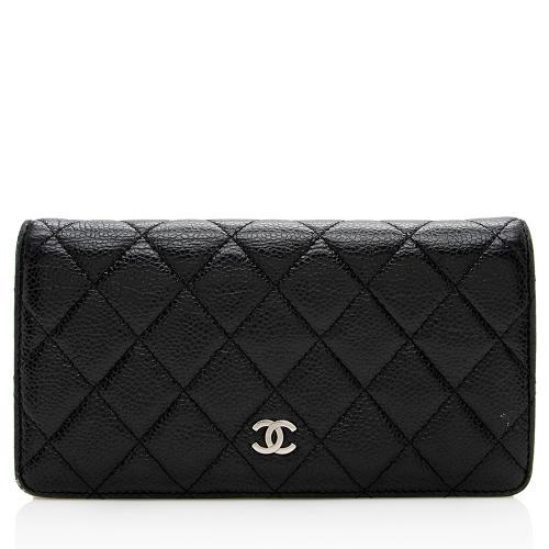 Chanel Caviar Leather CC Yen Wallet