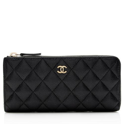 Chanel Caviar Leather CC Zip Wallet