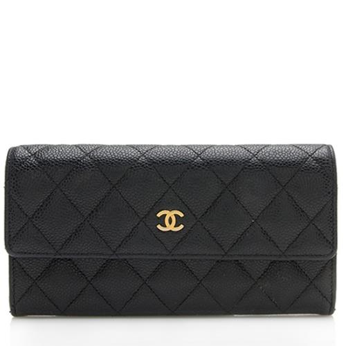 cbae45444d1b Chanel Caviar Leather Long Wallet
