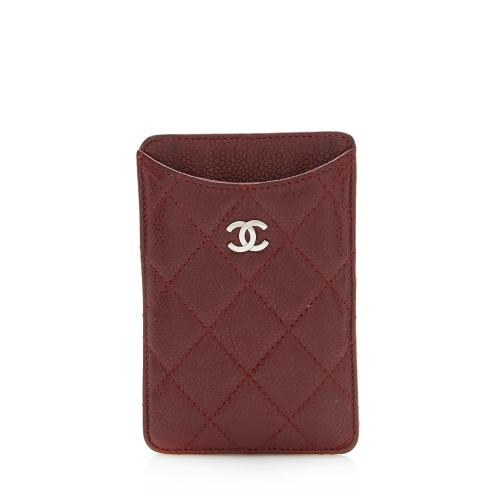 Chanel Caviar Leather Phone Case