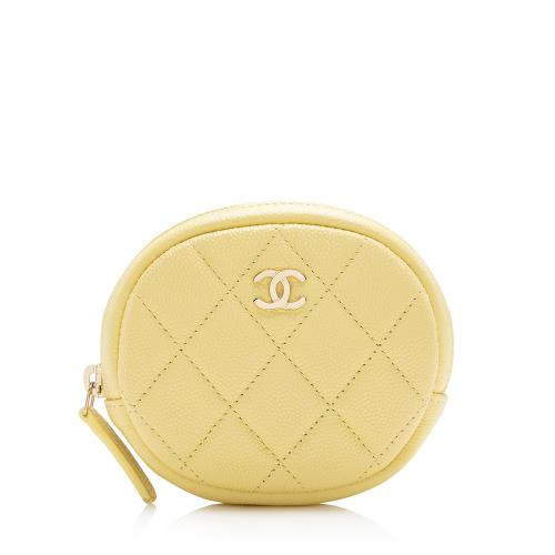Chanel Caviar Leather Round Coin Purse