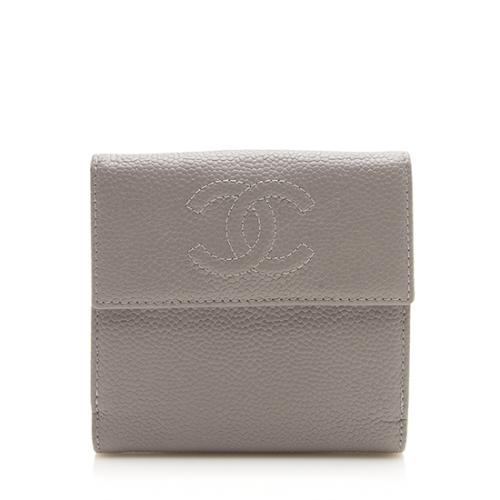 Chanel Caviar Leather Timeless CC Compact Wallet