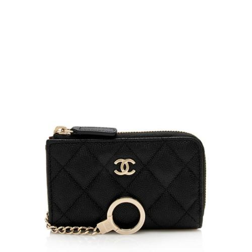 Chanel Caviar Leather Timeless Key Holder
