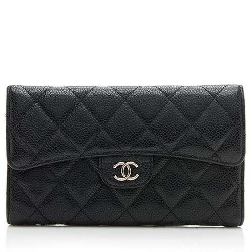 Chanel Caviar Leather Tri-Fold Wallet