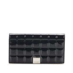 Chanel Choco Bar Patent Leather Wallet