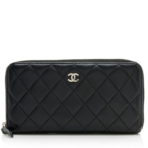 Chanel Lambskin CC Zip Around Wallet