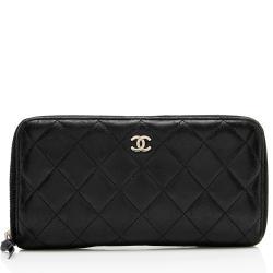 Chanel Lambskin CC Zip Around Wallet