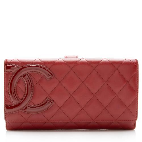 Chanel Lambskin Cambon Flap Wallet