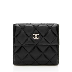 Chanel Lambskin Compact French Wallet
