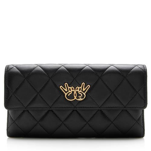 Chanel Lambskin Emoticon Flap Wallet