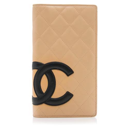 Chanel Lambskin Ligne Cambon Bi-Fold Wallet