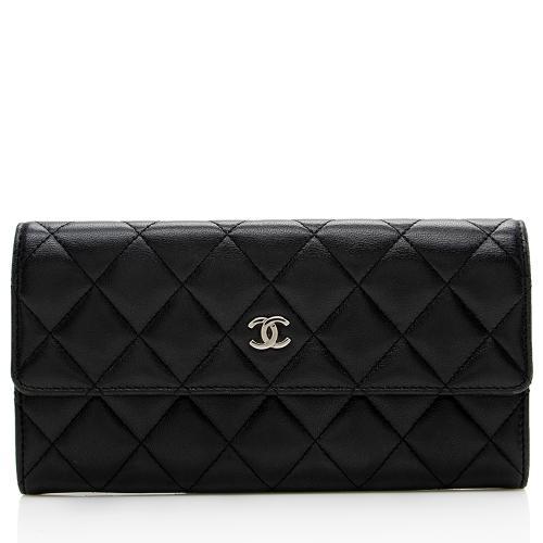 Chanel Lambskin Long Flap Wallet