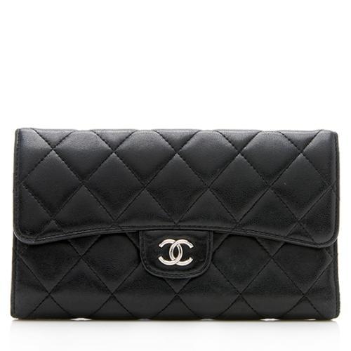 Chanel Lambskin Tri-Fold Wallet