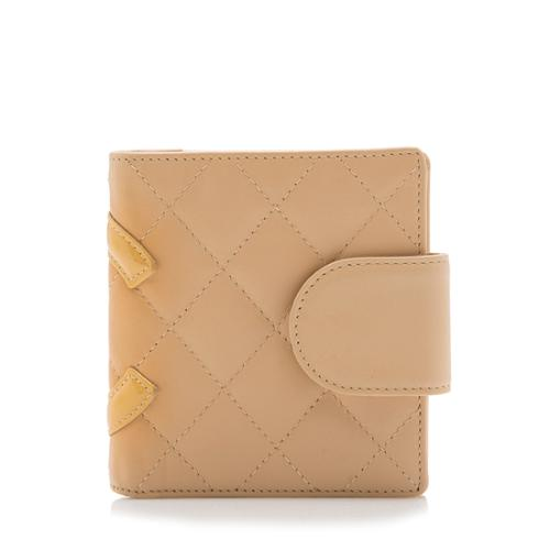Chanel Quilted Lambskin Ligne Cambon French Purse Wallet - FINAL SALE