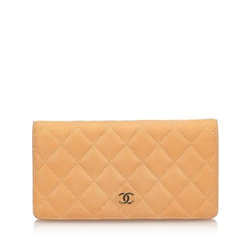 Chanel Washed Caviar CC Yen Wallet