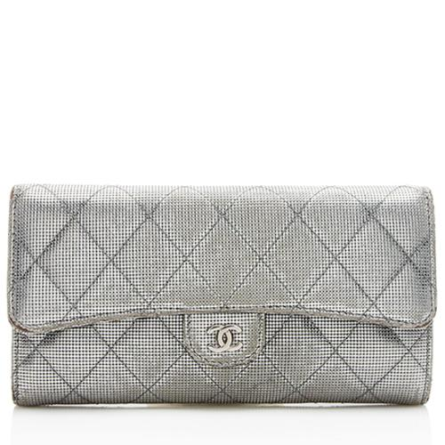 Chanel Metallic Calfskin Pixel Effect Classic Wallet