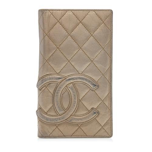 Chanel Metallic Lambskin Ligne Cambon Bi-Fold Wallet - FINAL SALE